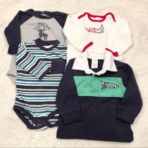 Lot of 4 Long Sleeved Boy Shirts from Gymboree
